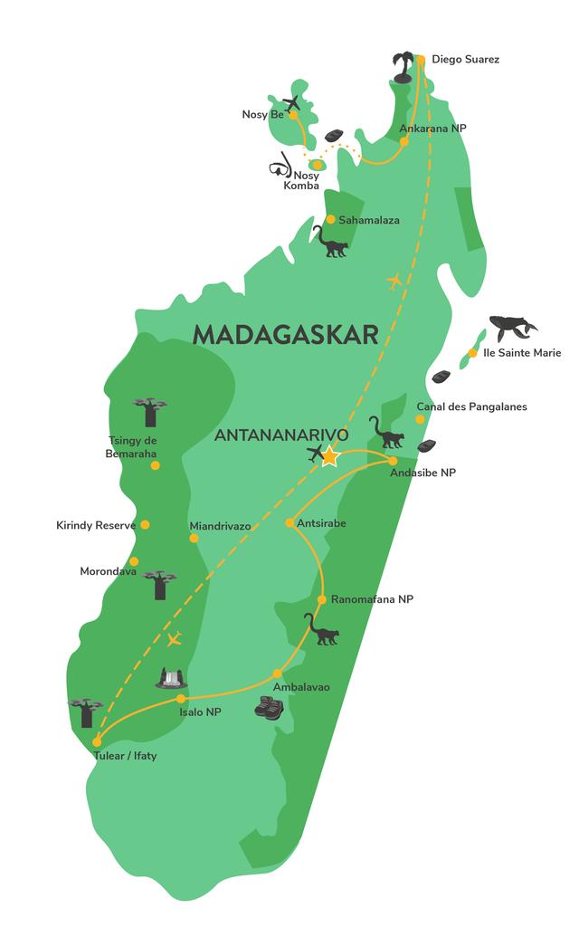 Privé Noord Zuid reis Madagascar - Matoke Tours