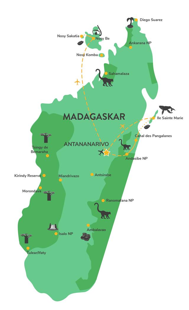Privéreis Madagascar familie walvissen - 15 dagen Matoke Tours