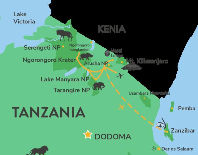 Privéreis Tanzania Zanzibar actief ongerept - 14 dagen   Matoke Tours