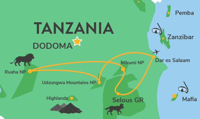 Zuid Tanzania groepsreis - Rondreis en groepsreizen naar Zuid Tanzania