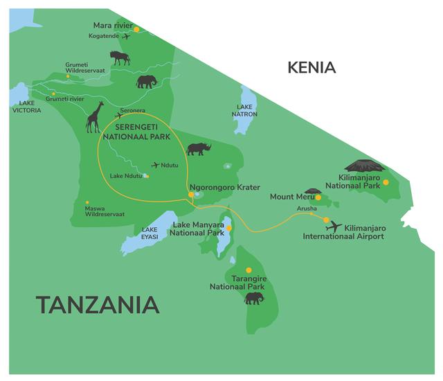 Privéreis Tanzania grote trek kalverseizoen- 9 dagen|Matoke Tours