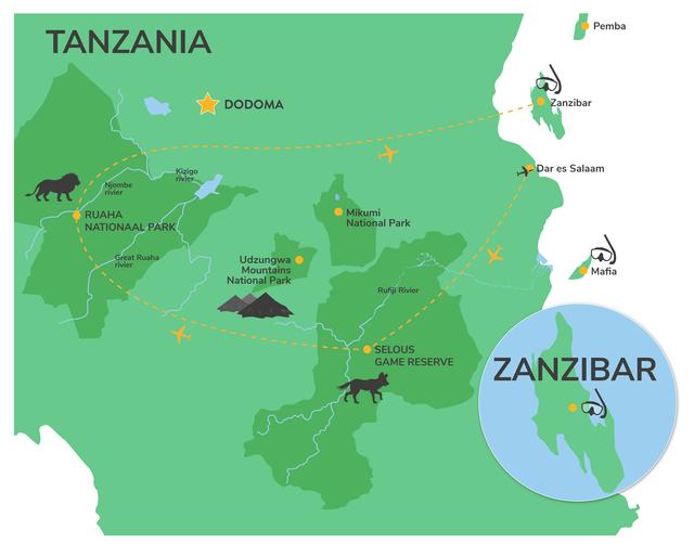 Fly-in safari Tanzania - Zuid Tanzania per vliegtuig - Matoke Tours