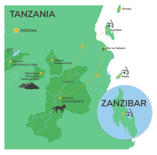 Safari selous vanuit zanzibar - Selous safari Zanzibar | Matoke Tours